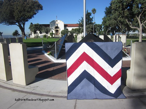 Giant Chevron at Veteran's Park