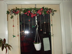 Christmas wreath hanger