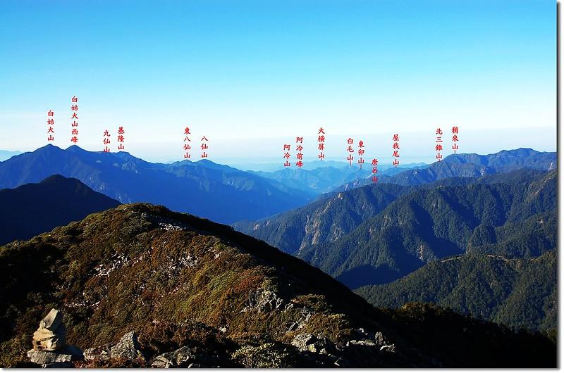 谷關群峰(From 大劍山朓向西南) 2-1
