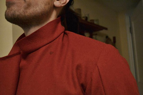 In Progress, Red Men's Outfit, from 1560's Italy, based heavily on Moroni portraits on MorganDonner.com