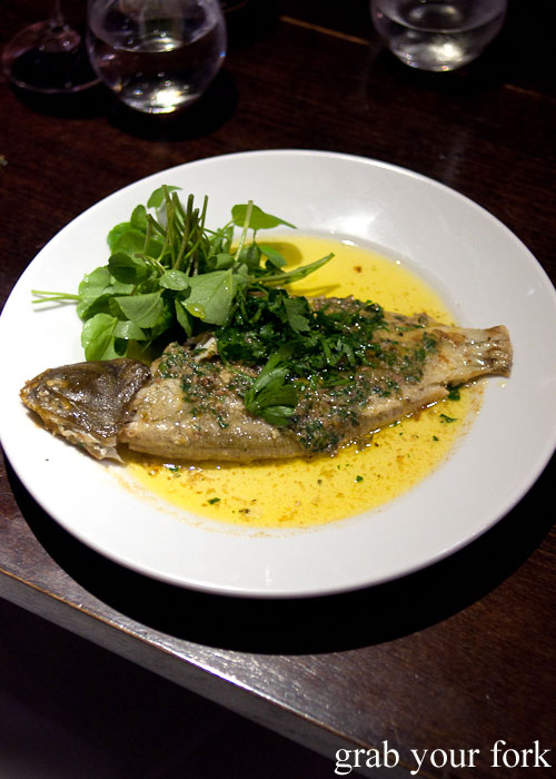 Flounder at Fix St James, Sydney