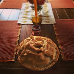Apple pie, check. Onto the turkey!