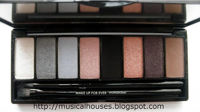 MUFE Midnight Glow Palette eyeshadows