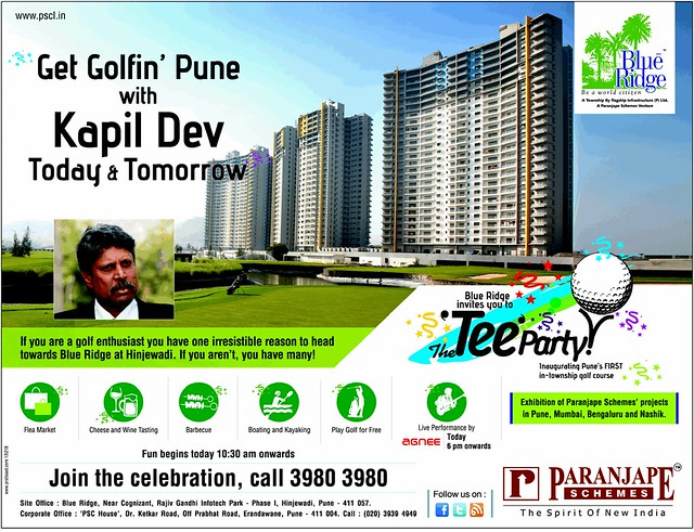 7-12-2013 Blue Ridge Hinjewadi Tee Party - Inauguration of Golf Course Exhibition of Parajape Schemes Projects in Pune Mumbai Bengaluru Nashik