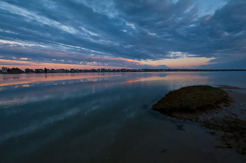 sunset sky color night clouds reflections cloudy maine wells webhannetriver