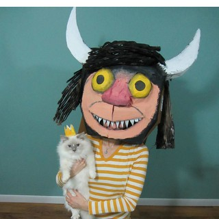 Where the Wild Things Are cardboard mask by Tara Middleton