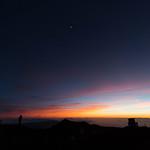 Moon at dusk, Mauna Kea