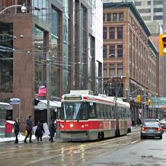 Streetcar in downtown Toronto