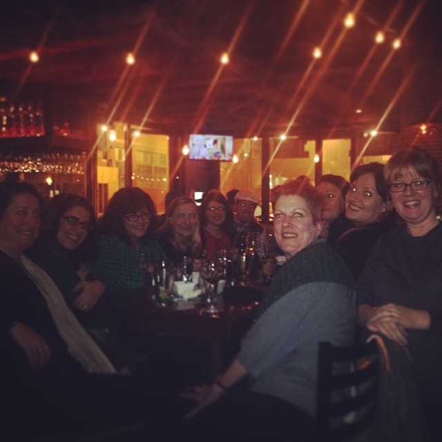 A fabulous (blurry) night with  @quaternityknits @knitterotica @picnicknits @YarnoverTruck @thedahliascene and more!