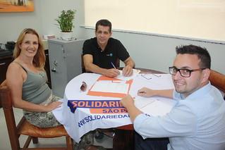 Claudia Drygala, David Martins e Diogo Telles