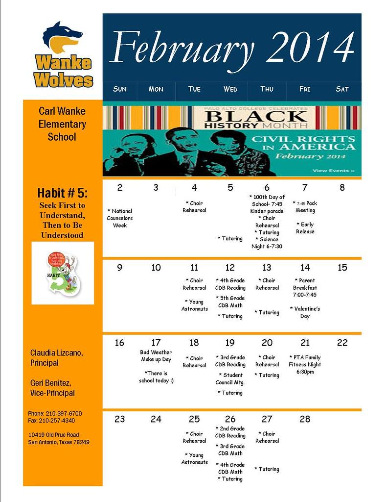 Parents Calendar FEB