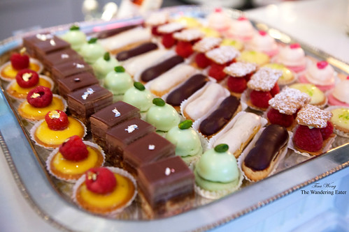 Trays of miniature pastries