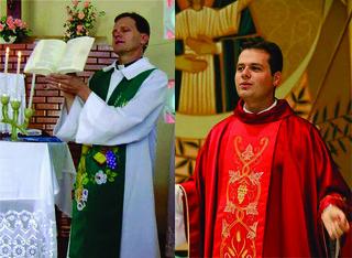 Pe. Osmar Burille e Pe. Mateus Danieli