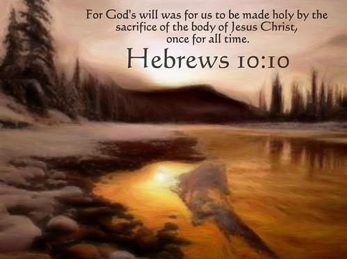 Hebrews 10:10 nlt