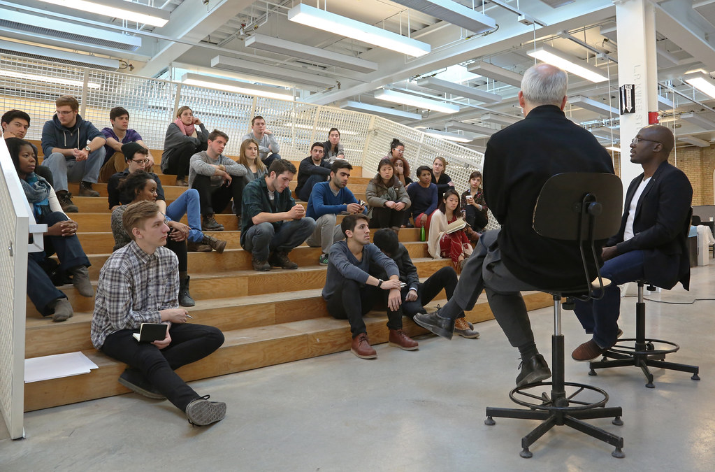 Questions And Answer Session With Adeyemi, Mark Cruvellier, And Architecture  Students On The Stepped