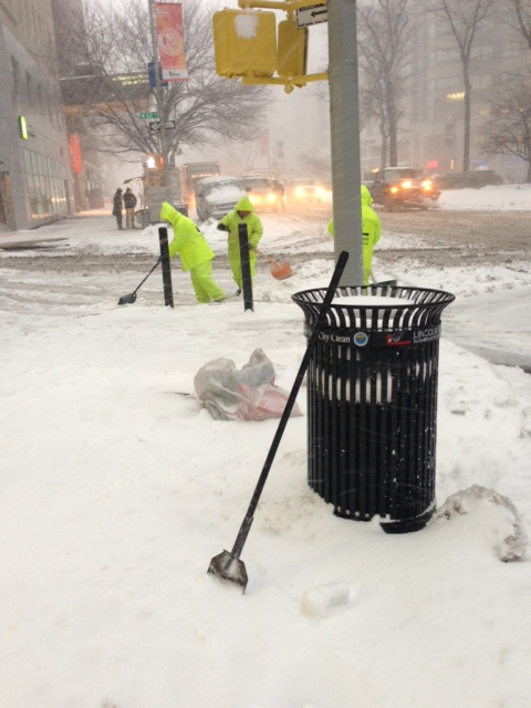 Guys at 62 and Broadway-Snow