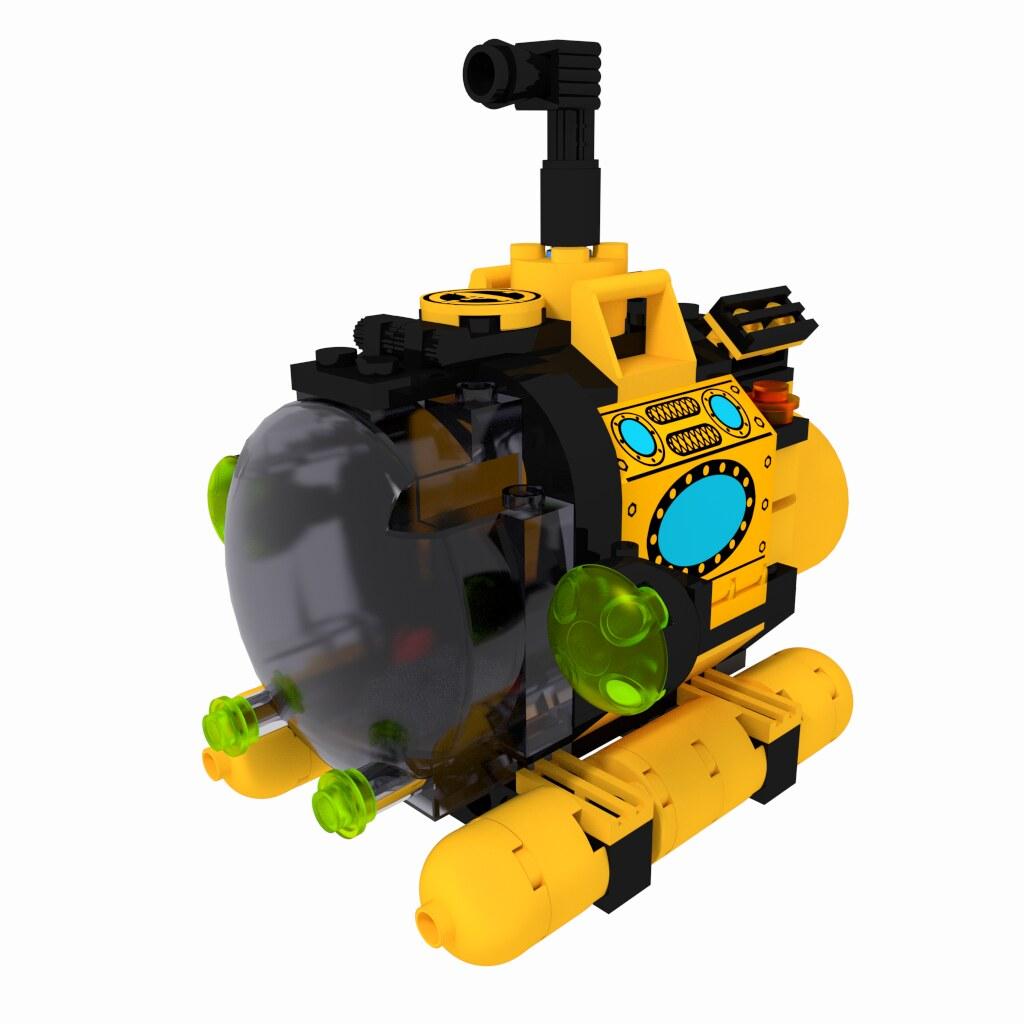 Gmiller Net 187 Lego Submarine Pig Boat
