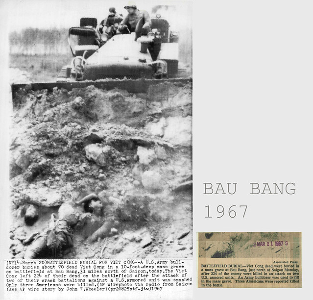 1967 Bau Bang - Battlefield burial for Viet Cong - News Service Photo