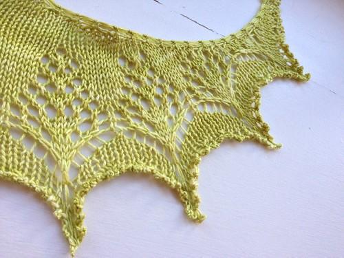Mimosa shawl
