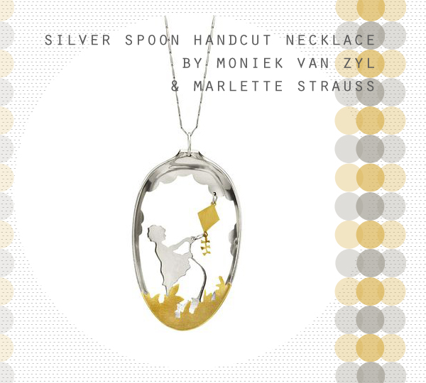 Silver Spoon Handcut Necklace by Moniek Van Zyl and Marlette Strauss at Uncommon Goods | Emma Lamb