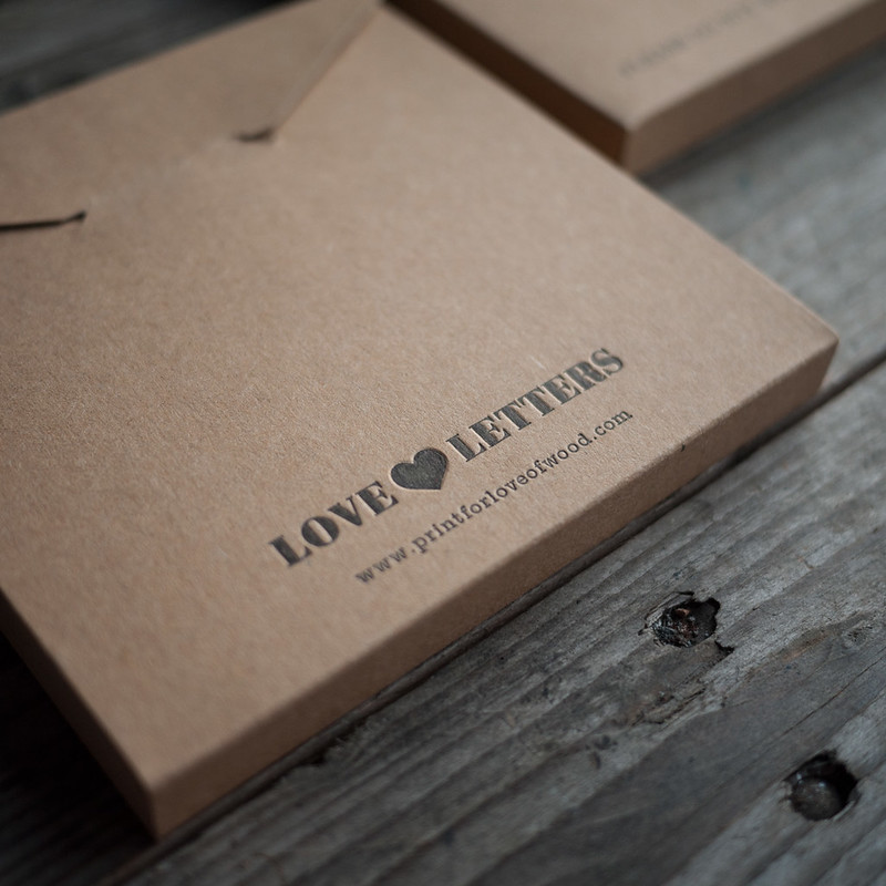 Print For Love Of Wood Letterpress Love Letters Straight