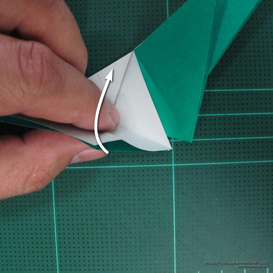 วิธีพับกระดาษเป็นรูปหมู (Origami Pig) 006