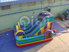 Obstacle course inflatable playground combo-03