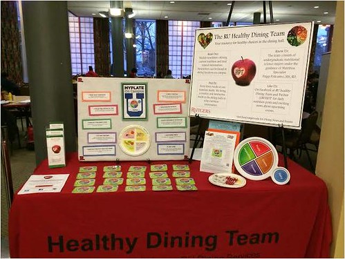 The RU Healthy Dining Team hosted a MyPlate nutrition education booth earlier this year.