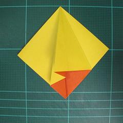 วิธีพับกระดาษเป็นรูปนกยูง (Origami Peacock - ピーコックの折り紙) 011