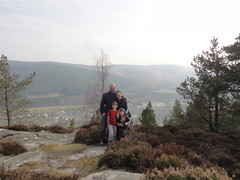 overlooking Ballater from Craigendarroch sumit