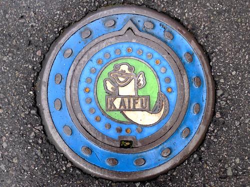 Kaifu Tokushima, manhole cover 2 (徳島県海部町のマンホール2)