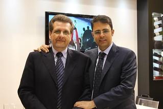 Il direttore commerciale Fabrizio Sanfilippo e il figlio del Senatore Doni Coppi