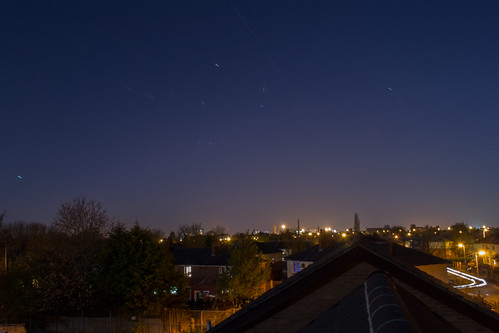 ISS pass over Preston from the top of my roof!