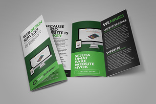 Web Design Trifold Brochure