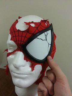 Damaged Spider-Man Mask