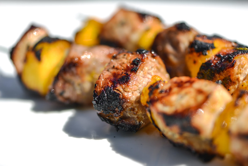 Mojo Pork Kebabs