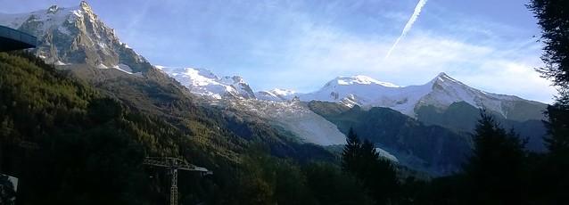 mont blanc massif in france chamonix alps