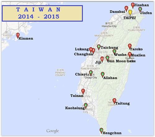 Trajet-Taiwan
