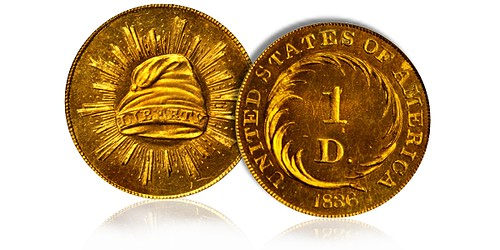 1836 Judd-67 Pattern Gold Dollar