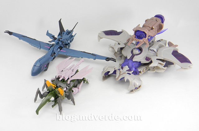 Transformers Hardshell Cyberverse - Transformers Prime Beast Hunters - modo alterno vs Soundwave vs Megatron