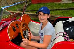 Ahlanna at the wheel