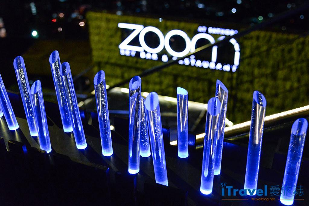 《曼谷高空酒吧》ZOOM Sky Bar & Restaurant:安納塔拉公寓酒店樓頂,無服裝限制的360度環繞天台景觀。