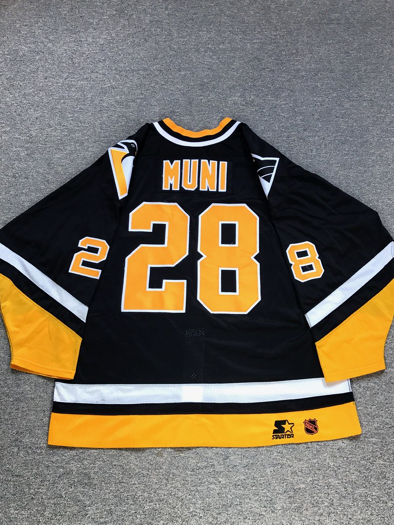 Pittsburgh Penguins 1996/1997 Road Craig Muni Starter Sz. 54 (back)