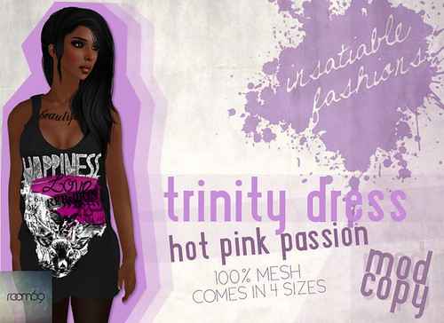 [IF] Room69 Item: Trinity Dress in Hot Pink Passion