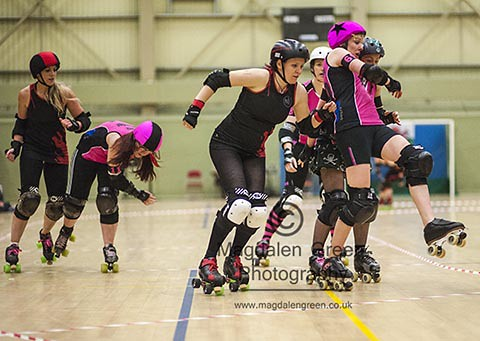 Ooops - Dundee Roller Girls versus Swansea City Slayers - Bout Day - DISC Dundee Scotland