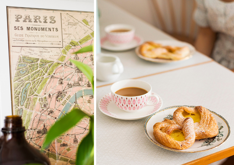 paris map and coffee by sofia bystrom
