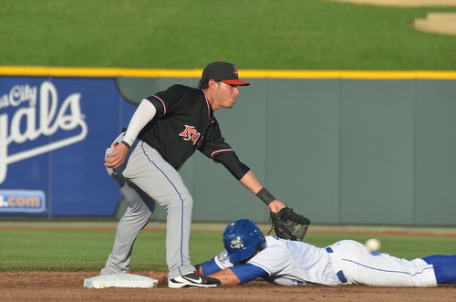 Seratelli sliding into 2nd, and then...