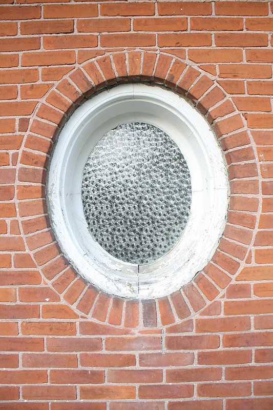 antique oval window