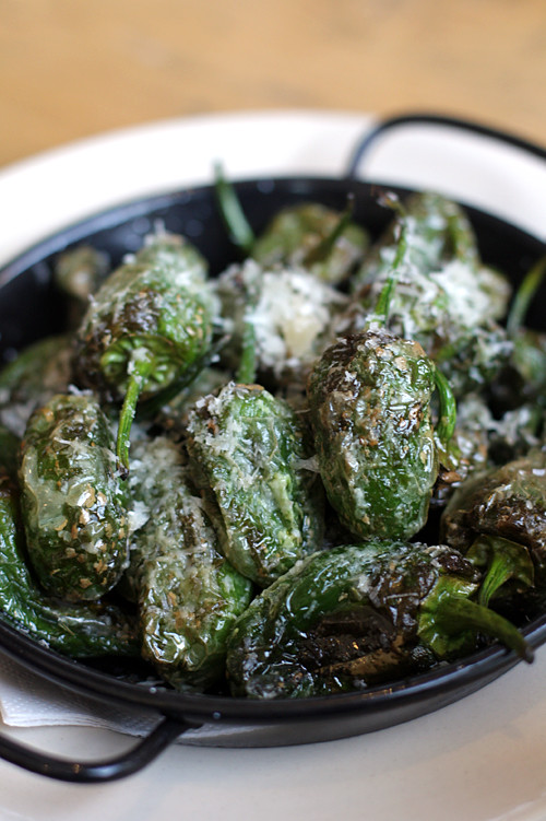Padron peppers at Grain Store