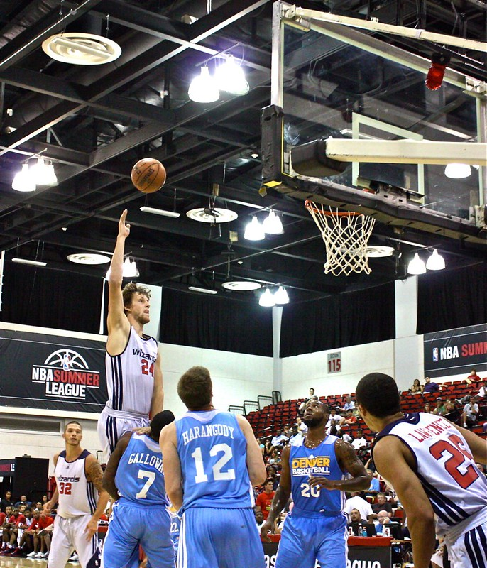 Jan Vesely running hook in the lane - Washington Wizards - 2013 NBA Las Vegas Summer League